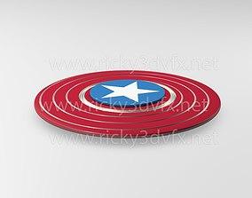 3D asset Captain America Spinner