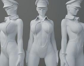 HD Swimsuit uniform girl 3D print model