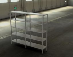 Shelving stainless steel model 3D