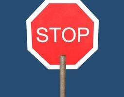 Stop sign 3D asset