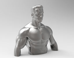 Sculpture of Terminator 3D print model
