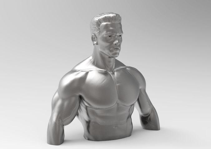 sculpture of terminator 3d model obj mtl fbx stl 1