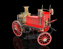 SHAND MASON STEAM POWERED FIRE ENGINE 3D print model