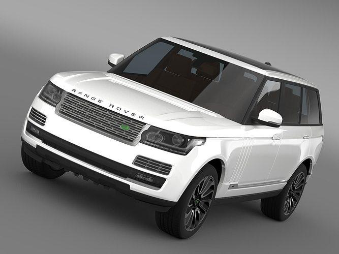 range rover autobiography lwb l405 2014 3d model max obj mtl 3ds fbx c4d lwo lw lws 1