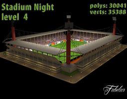 Stadium Level 4 Night 3D Model