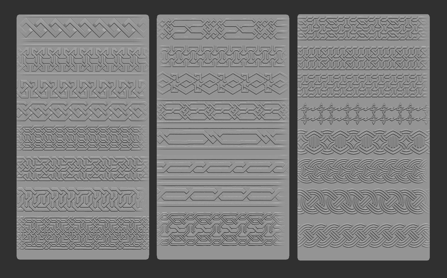 3d Model 24 Tiling Viking Knot Patterns Cgtrader