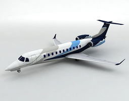 Embraer Legacy 600 Aircraft 3D model
