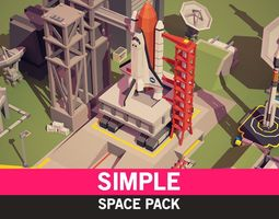 low-poly Simple Space - Cartoon Assets