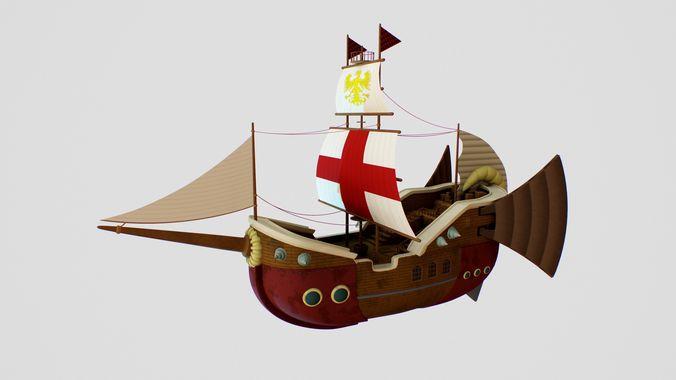 ship warcraft 3d model obj mtl fbx c4d stl 1