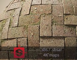 3D model Interlocking Pavements Tileable PBR Material
