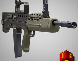 L85A2 assault rifle 3D Model