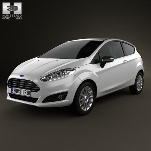 Ford Fiesta hatchback 3-door EU 20133D model
