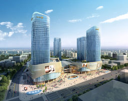 city 3D model Skyscraper Business Center