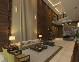 Royal double height Living Area 3D model