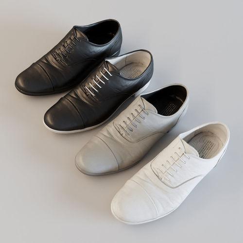 straight tip leather shoes 3d model obj mtl fbx c4d 1