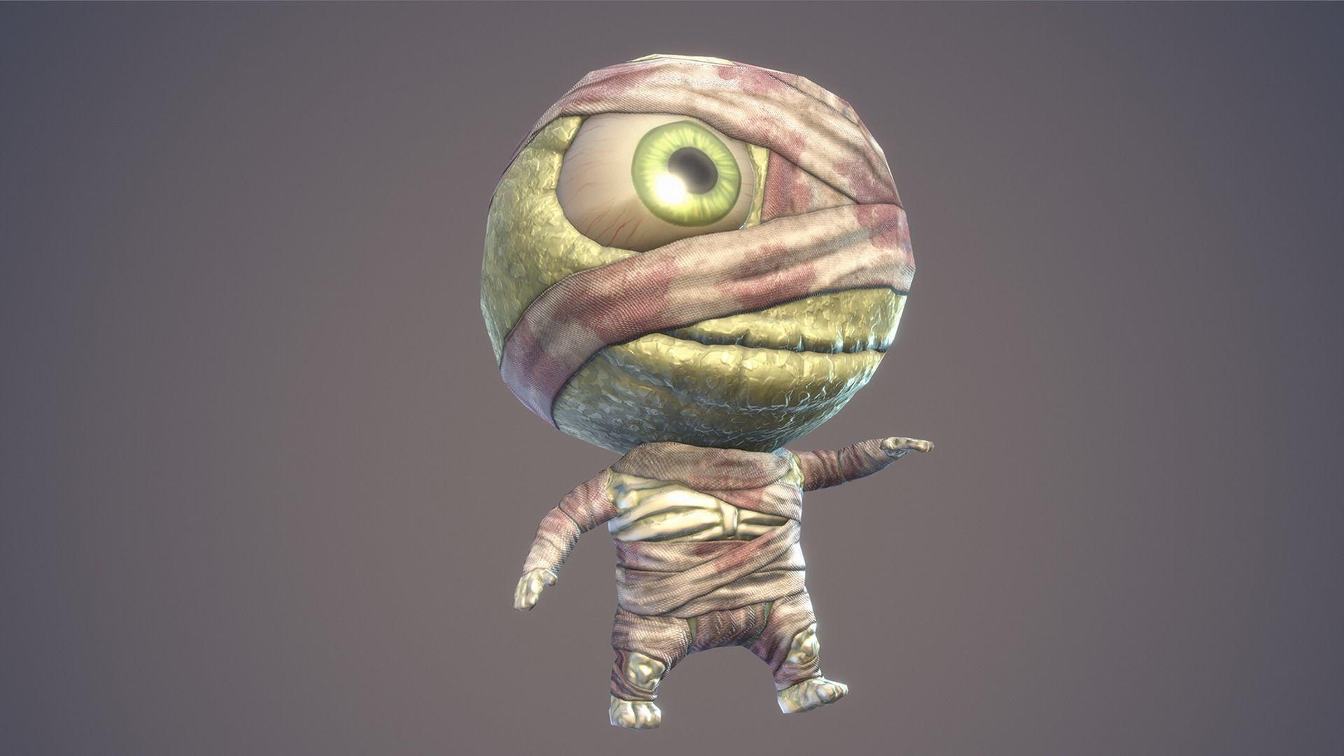Cartoon Character Chibi Mummy   3D model