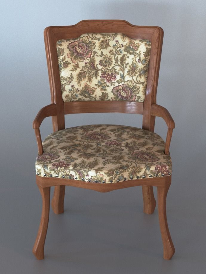 3D Small Vintage Armchair | CGTrader