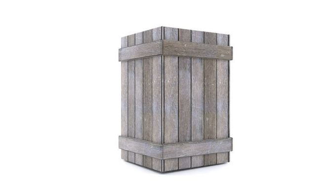 old wooden box property 3d model low-poly animated obj mtl 3ds fbx blend dae 1
