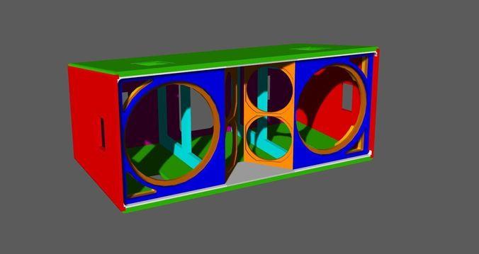 jbl vertec vt4889 cabinet 3d model max obj mtl 3ds fbx dwg 1