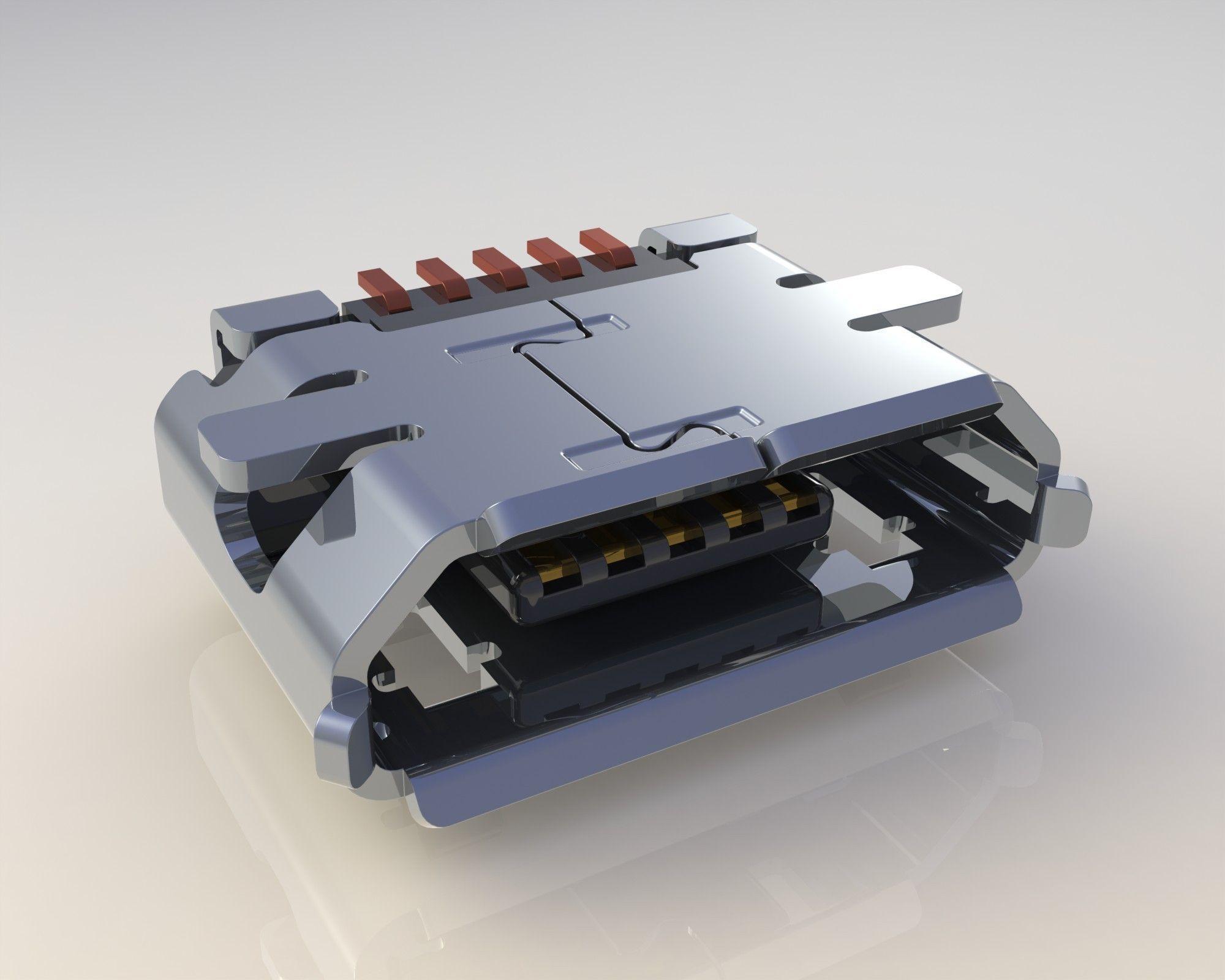 Micro Usb Free 3d Model Stl