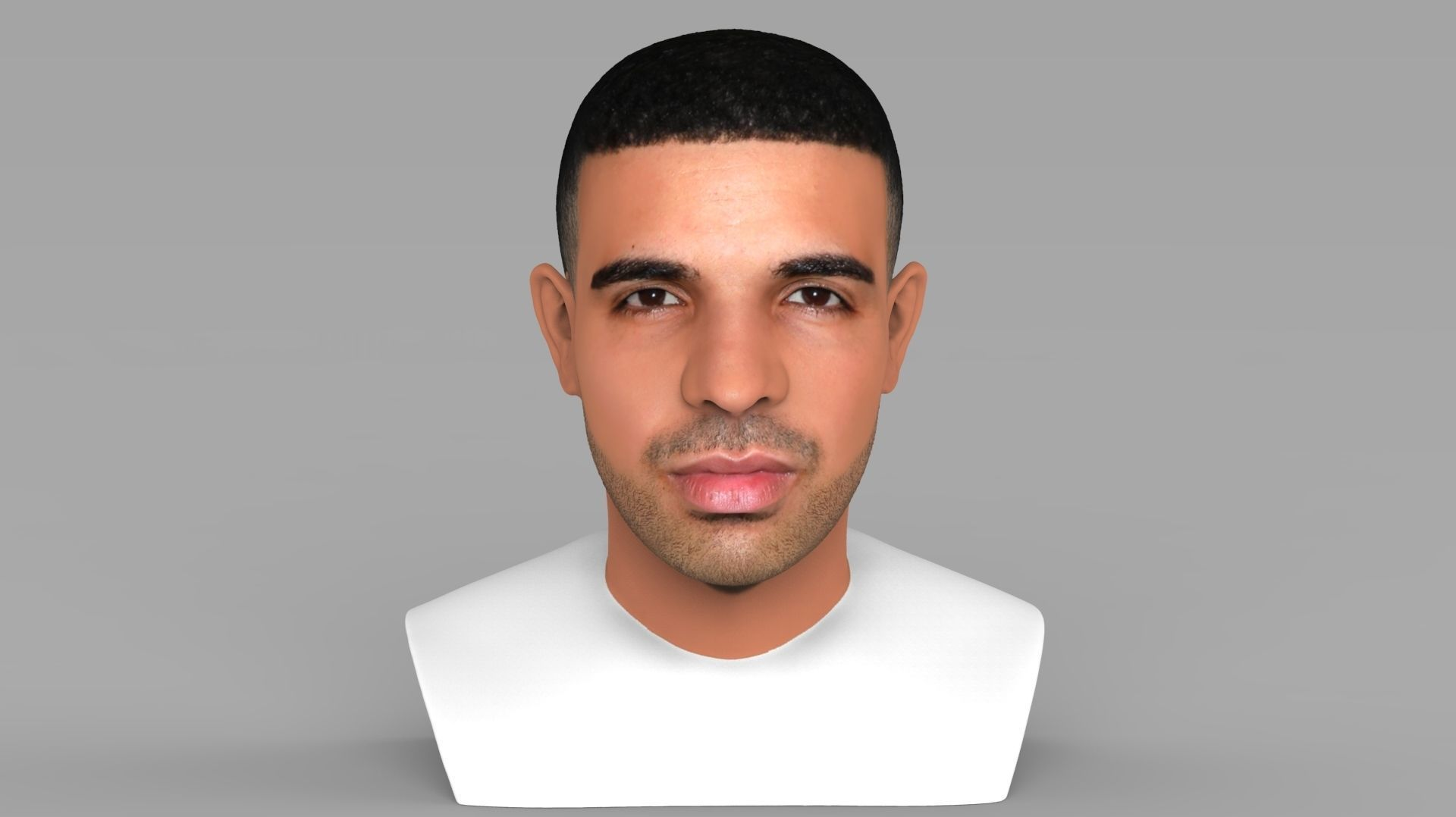 Drake bust ready for full color 3D printing