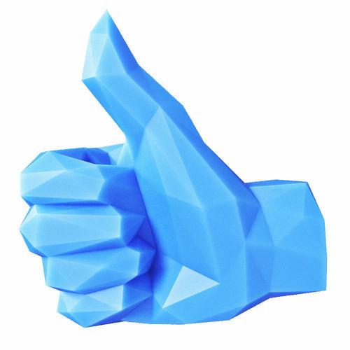 hand thumbs up  low poly 3d model low-poly max obj mtl 3ds fbx stl 1