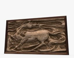 Horse Relic Sculpture Picture Frame 3D model