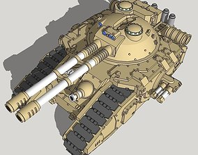 3D print model 6mm-scale FellKnife Superheavy Tank