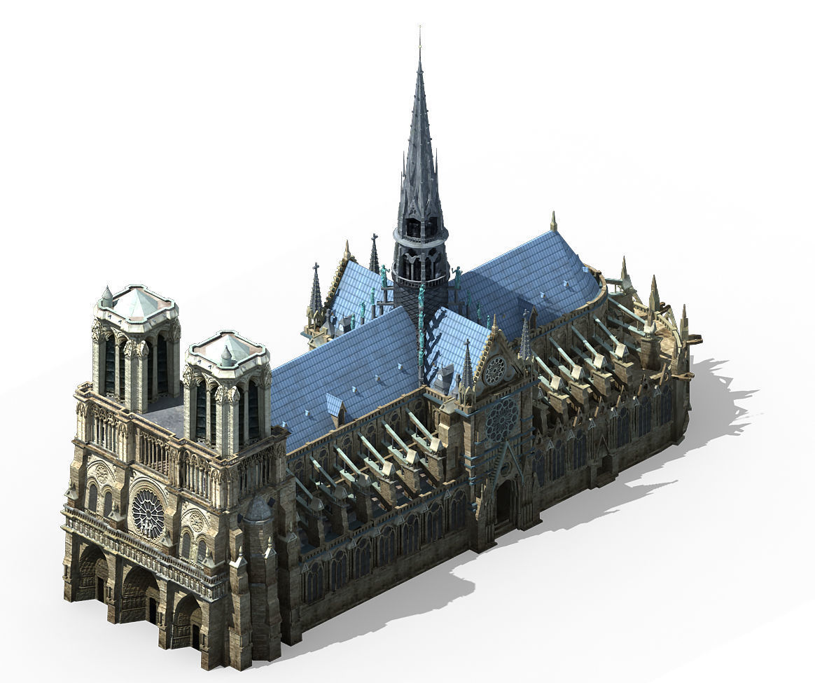 Different dimension - architecture - Notre Dame de Paris 01