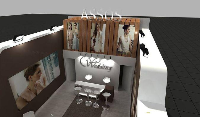 Diamon Exhibition Stand3D model