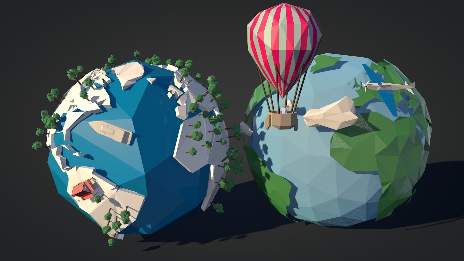 Low-Poly-Earth Pack