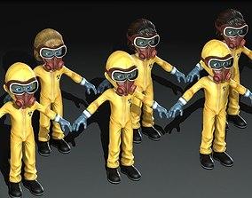 3D model Hazmat Suit Girl