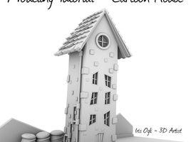 3D Modeling Tutorial - Cartoon House in maya 2018