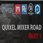 Quixel Mixer road in UE4 and 3ds max. Part 1. Introduction.