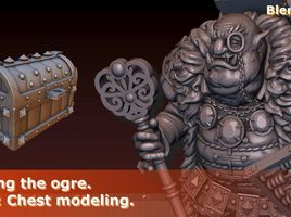 Creating the Ogre. Part 3: Chest modeling. Modeling in Blender