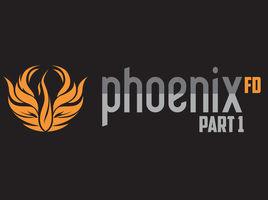 PhoenixFD. Preparing the scene for simulations. Fire preset. VrayGPU and Nvidia AI Denoiser