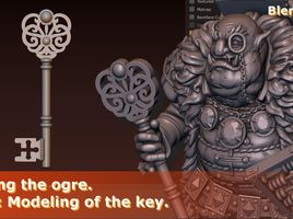 Creating the Ogre. Part 4: Modeling of the Key. Modeling in Blender