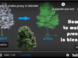 how to make proxy model in blender