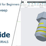 Helical sweep for beginners | Creo tutorial