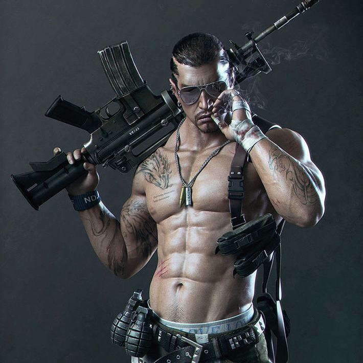 Digital Artists Create 32 Incredibly Realistic Male 3D Models  7