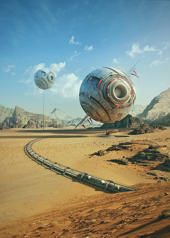 40 Mindblowing Sci-Fi 3D Renderings: The Universe In CGI 5