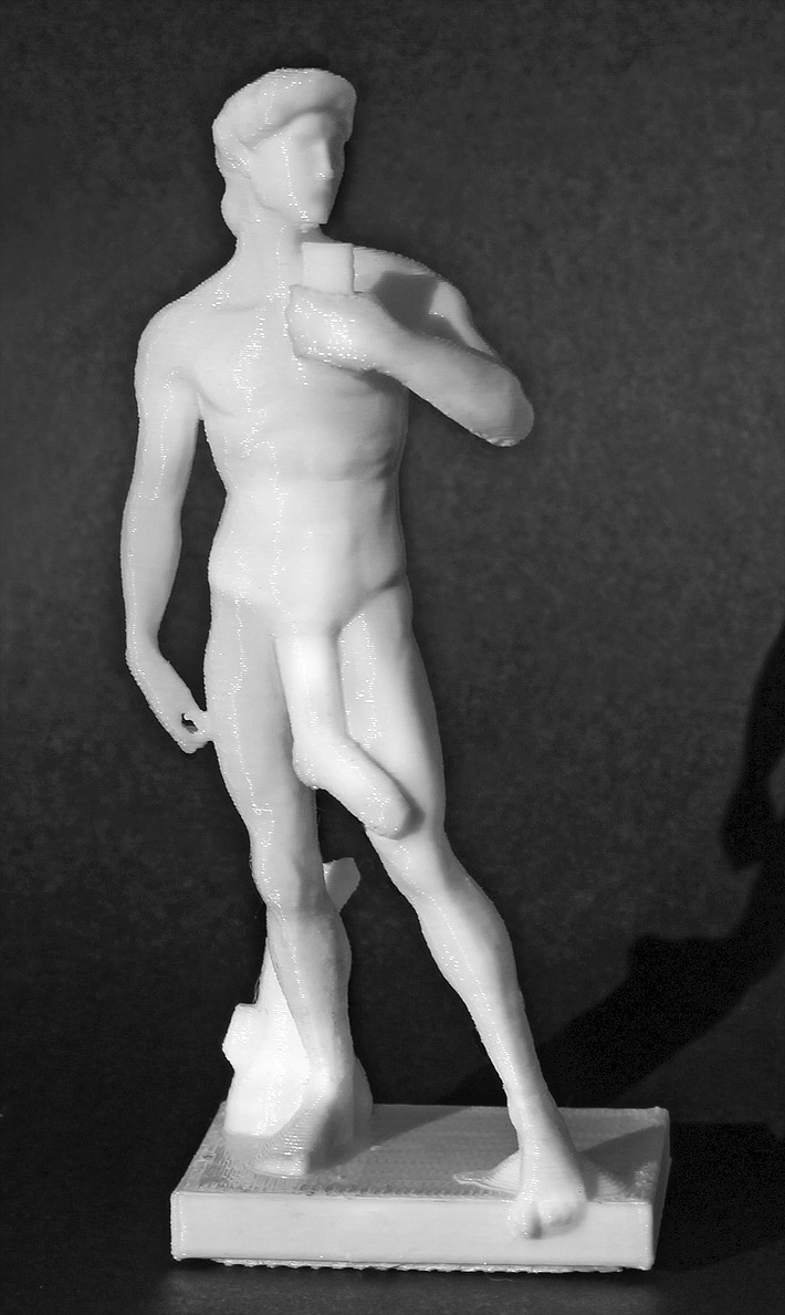 3D Printed Michelangelo's David Supports Awareness Of Cancer Without Nudity 2