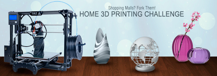 Home 3D Printing Challenge: Shopping Malls? Fork Them!