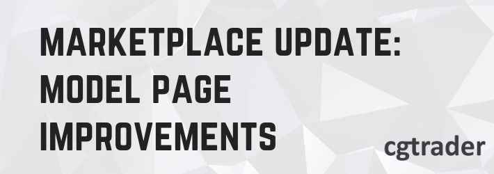 New marketplace improvement: model pages
