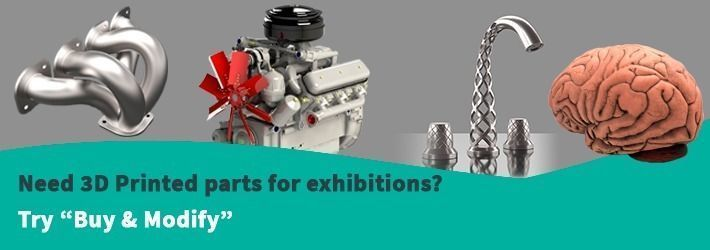 Need 3D Printed Parts for Exhibitions? Buy Stock 3D Models To Save Time & Money