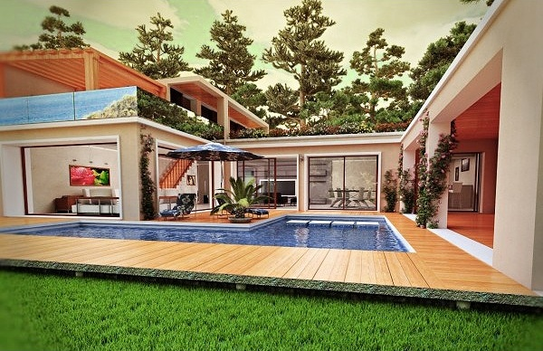 Cinema 4d house model house and home design for Home design 4d