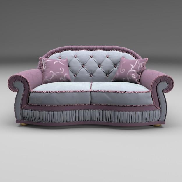 Fleury Soft Sofa 3D models