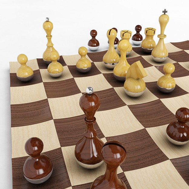Best 3d models of february blog - Wobble chess set ...
