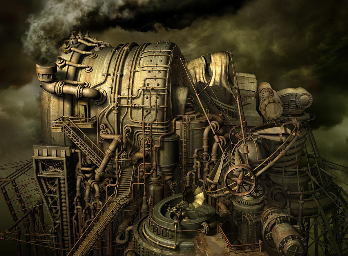 Steampunk Art In 3D Modeling - Blog
