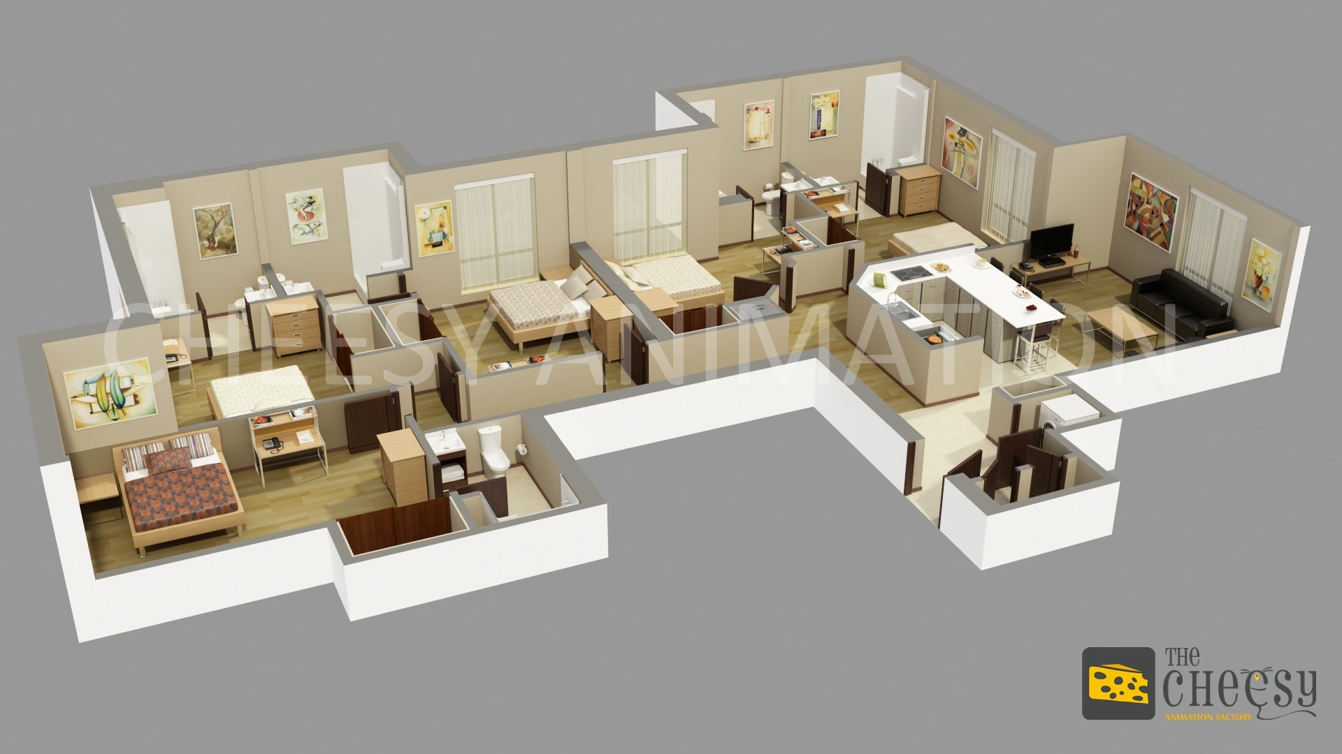 3d floor plan rendering an effective way to have for Build a 3d house online